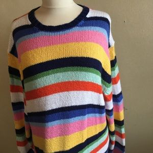 Vintage striped rainbow sweater